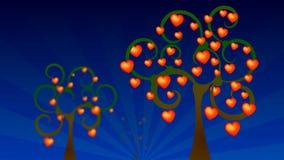 Walentynki, drzewny serce zbiory wideo