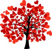 Walentynki drzewo,   ilustracji