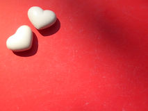 Walentynki dwa serc tło Obraz Royalty Free