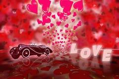 Walentynki dzień abstrakta tło Zdjęcie Stock
