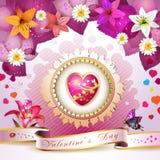 Walentynki dzień karta royalty ilustracja