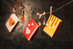 Walentynki dzień karty Zdjęcia Royalty Free