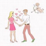 Walentynki eros ilustracji