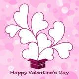 Walentynki gręplują tło z sercem Obrazy Royalty Free