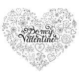 Walentynki gręplują z sercami, ptaki, kwiaty ilustracja wektor