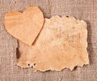Walentynki i stary papier Obraz Royalty Free