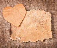 Walentynki i stary papier Zdjęcia Stock