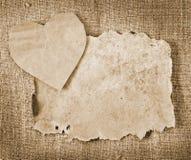 Walentynki i stary papier Obrazy Stock