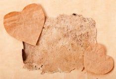 Walentynki i stary papier Fotografia Stock