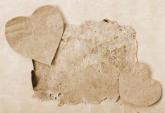 Walentynki i stary papier Zdjęcia Royalty Free
