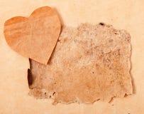 Walentynki i stary papier Obraz Stock