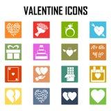 Walentynki ikona Obraz Stock