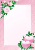 Walentynki karta Fotografia Royalty Free