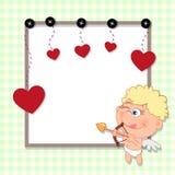 Walentynki karta Obrazy Royalty Free