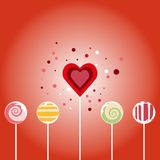 Walentynki karta - bezszwowy wzór Zdjęcia Stock
