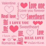Walentynki karta miłość Zdjęcie Royalty Free