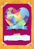 Walentynki karta z oszałamiająco sercem Fotografia Royalty Free