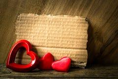 Walentynki kartka z pozdrowieniami Obrazy Stock