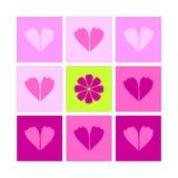 Walentynki karty 14th Luty świętowanie Zdjęcia Royalty Free