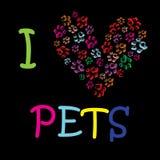 Walentynki kota chrobotliwy serce Zdjęcie Royalty Free