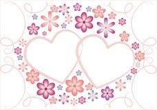walentynki kwiaty serc royalty ilustracja