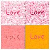 Walentynki miłość bezszwowa Fotografia Stock
