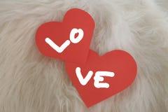 Walentynki miłości karta Zdjęcie Royalty Free