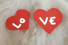 Walentynki miłości karta Obraz Stock
