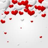 Walentynki miłości serca odosobniony tło Fotografia Stock