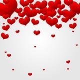 Walentynki miłości serca odosobniony tło Zdjęcia Royalty Free