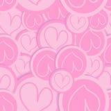 Walentynki miłości serca wzór Zdjęcia Royalty Free