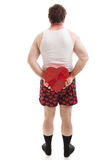Walentynki niespodzianka Za plecy zdjęcie royalty free