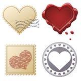 Walentynki opłaty pocztowa set Fotografia Stock