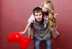 Walentynki para Obrazy Royalty Free