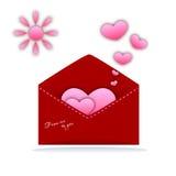 Walentynki pielenia i dnia karty Obrazy Stock