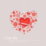 Walentynki pielenia i dnia karty royalty ilustracja