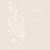 Walentynki pielenia i dnia karty ilustracja wektor