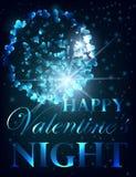 Walentynki przyjęcia projekta karty sztandar z bokeh Wektorowy szczęśliwy valentine miłości plakat ilustracji