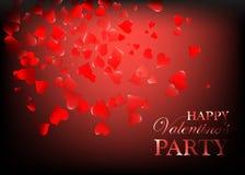 Walentynki przyjęcia projekta karty sztandar z sercami Wektorowa szczęśliwa valentine miłości plakata ilustracja Partyjna świętow ilustracja wektor