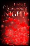 Walentynki przyjęcia projekta karty sztandar z sercami Wektorowa szczęśliwa valentine miłości plakata ilustracja Partyjna świętow royalty ilustracja