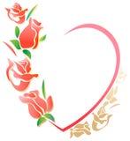 Walentynki rama Zdjęcie Stock