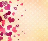 Walentynki romantyczny tło Polek kropek serca tapetowi Obrazy Stock