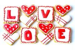 Walentynki ` s dnia ciastka Obraz Royalty Free