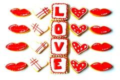 Walentynki ` s dnia ciastka Fotografia Stock
