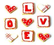 Walentynki ` s dnia ciastka Zdjęcia Royalty Free