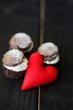 Walentynki s dnia ciastka Zdjęcia Royalty Free
