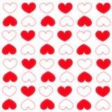 Walentynki ` s dnia czerwoni serca deseniują tło ilustracja wektor