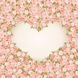 Walentynki ` s dnia karta Z kwiatami. Zdjęcie Stock