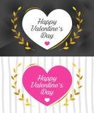 Walentynki ` s dnia karta z Ślicznymi I Romantycznymi menchiami Barwi ilustracji