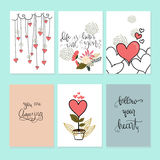 Walentynki ` s dnia karty vecotr ilustration royalty ilustracja